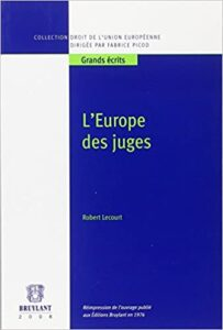 Book Cover: L'Europe des juges