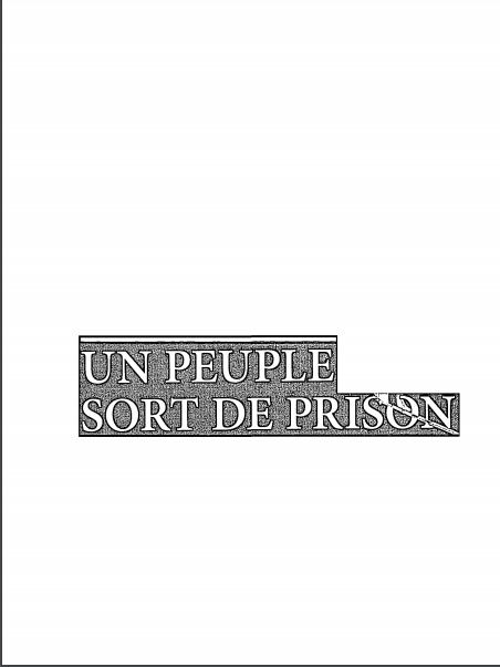 Book Cover: Un peuple sort de prison