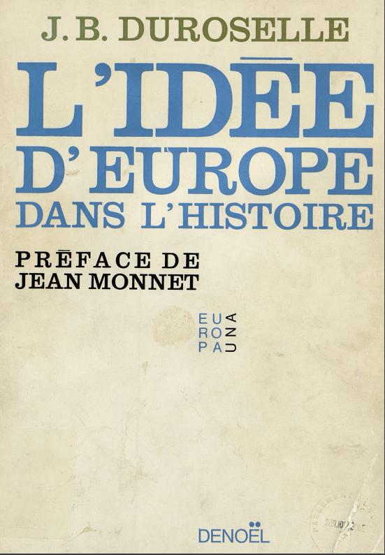 Book Cover: L'idée d'Europe dans l'histoire